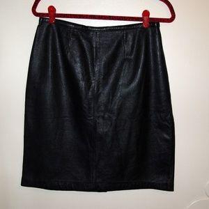 Mixit | Sz 10 Black Leather Skirt